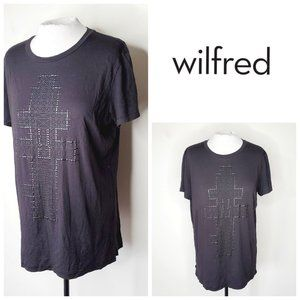 ARITZIA WILFRED Distressed Oversized Beaded Shirt
